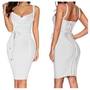 Sara White Bandage Dress